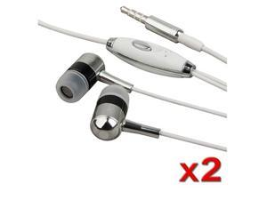 2x EARBUD HEADPHONE EARPHONE Compatible with iPhone® 3GS 4G iPhone® 4S - AT&T, Sprint, Version 16GB 32GB 64GB Mic