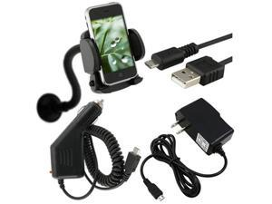 Car+AC Charger+USB+Mount Compatible With HTC Mytouch 4G G2 Desire