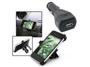 Car Air Vent Holder Mount+Charger For iPhone® 4 4S 4G 4GS Gen 4th