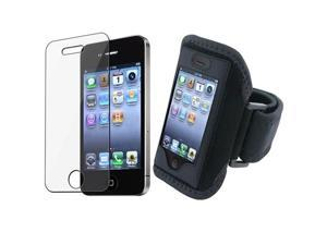 Sport ArmBand+Screen Protector compatible with iPhone® 4 4S 4G 4th IOS4