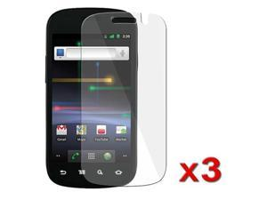 Transparent Clear Screen Protector compatible withSamsung© Google Nexus S with Cleaning Cloth, 3 Packs