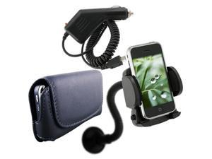 3in1 Car Accessory Bundle compatible with Motorola Droid 2 A955