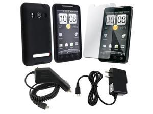 compatible with HTC Sprint Evo 4G CDMA CELL 4-in-1 Accessory BUNDLE
