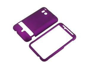 Snap-on Rubber Coated Case compatible with HTC ThunderBolt 4G, Purple