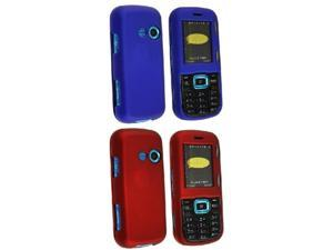 2x Red Blue Rubber Hard Cover Case compatible with LG Cosmos VN250