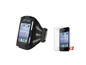 Sport Armband Case Pouch + 2 Guard Compatible With iPhone® 4 G 4th Gen iPhone® 4S - AT&T, Sprint, Version 16GB 32GB 64GB
