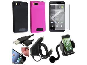 7in1 Accessory Bundle Case compatible with Verizon Motorola Droid X