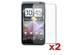 2 Pack Transparent Clear LCD Screen Protector Film compatible with HTC ThunderBolt 4G