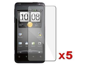 5 x Reusable Screen Protector Shields compatible with HTC EVO Design 4G