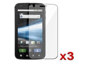3 Pack Clear LCD Screen Protector Cover compatible with Motorola Atrix 4G MB860