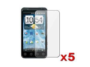 5 x Reusable Screen Protector Shields compatible with HTC EVO 3D