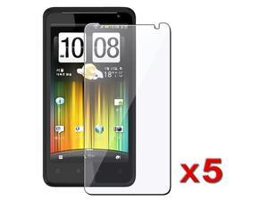 5 x Reusable Screen Protector Shields compatible with HTC Holiday