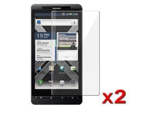 Transparent Clear LCD Screen Protector Film compatible with Motorola Droid X2 (Twin Pack)