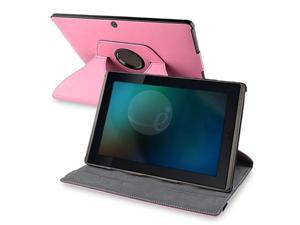 360-degree Leather Swivel Case for Asus Eee Pad Transformer, Pink