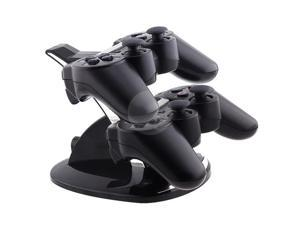 Dual Charge Station with Stand for PS3 Controller, Black