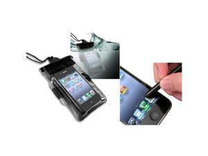 Universal Black Waterproof Bag Cover Case+Stylus Pen compatible with iPhone® 4 4S