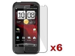 6 Pack New compatible with Verizon HTC Rezound Vigor LCD Screen Protector Cover Guard Film