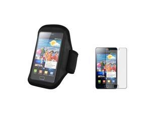 Black Sport Running Armband Arm Band Case+LCD compatible with Samsung© Galaxy S II i9100 S2