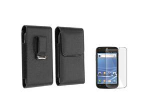 Black Leather Flip Case Cover Pouch+LCD SP compatible with T-Mobile Samsung© Galaxy S II T989