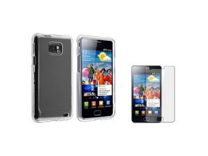 compatible with Samsung© Galaxy S2 i9100 Cell Phone Clear Crystal Hard Skin Case Cover+Film