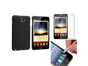 Black Hard Case Cover+LCD Screen Protector+Stylus compatible with Samsung© Galaxy Note N7000