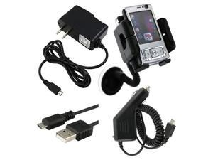 Car+AC Charger+USB+Mount compatible with HTC EVO Shift 4G Sprint