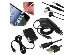 Car Charger+Headphone+Stylus compatible with Samsung© Epic 4G Touch Attain i777 Hercules T989
