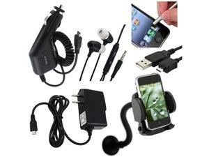 6x Bundle Charger Headset compatible with HTC Inspire 4G EVO Shift