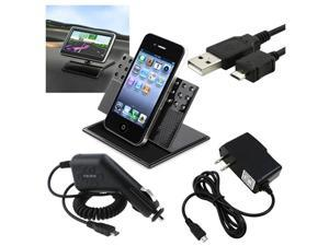 Car Vent Mount+USB+Charger Compatible With HTC Evo 4G G2 Nexus One