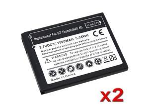 Insten Black 2 Replacement Battery for HTC Mytouch 4G Thunderbolt 4G 647009