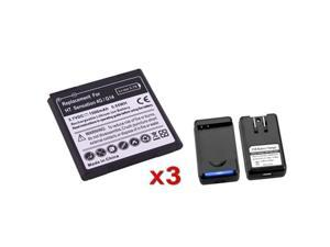 Insten White 3x 1500mAh Replacement Battery+Charger for T-Mobile HTC Sensation 4G G14 649151