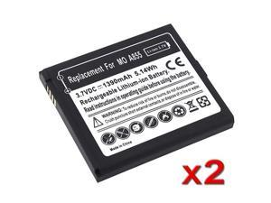 Insten Black 2in 1 Replacement Li-Ion Standard Battery Pack for Motorola Droid A855 CLIQ 645710