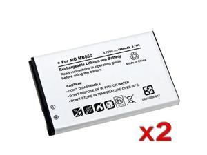 Insten White 2pc BH6X Battery Liion for Motorola Atrix 4G MB860 AT&T 647068