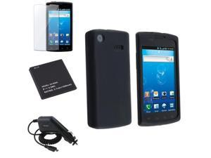 Insten Black Compatible with Samsung I897 Captivate Li-Ion Battery+DC Car Charger+Case Cover+LCD Film 645881