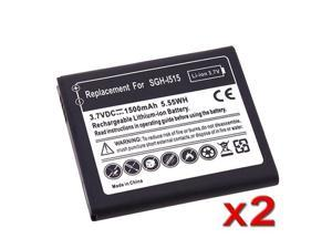 Insten Black 2x New 1500mAh Li-Ion Replacement Battery Compatible With Samsung© Galaxy Nexus CDMA SCH-I515 654099