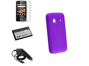 Insten 4in1 Accessory Case+Battery+Pro+Charger Compatible with Samsung Galaxy Prevail SPH-M820 648851