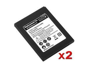 Insten Black 2x Accessory 1800mAh High Li-Lon Battery Compatible with Samsung GALAXY S2 Attain I777 AT&T 647952