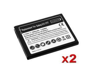 Insten Black 1800mAh 2X Replacement Battery Compatible with AT&T Samsung Galaxy S2 II SGH-I777 653041