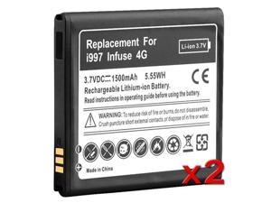 Insten Black 2x 1500mAh Battery Compatible with Samsung Galaxy Infuse 4G I997 647916