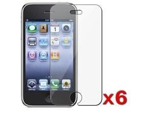 6 Packs Clear iPhone® 3G Premium Screen Film Protector, Compatible with iPhone® 3G 8GB 16GB 32GB