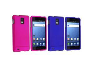 Insten Hot Pink and Blue Solid Cell Phone - Case & Covers
