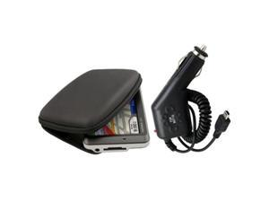 BLACK Pouch Case+Car Charger compatible with GPS nuvi 255W nuvi 250W