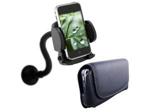 Car Mount Holder+Leather Case Cover For HTC Desire Z G2
