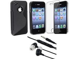 NEW Black hard Case+Headset+LCD compatible with iPhone® 4 4S 4G 4Gen