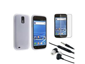 White Silicone Case+LCD Protector+Headphone compatible with Samsung© Galaxy S2 T989 T-Mobile