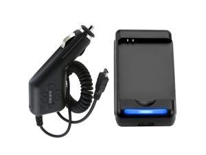 Desktop Battery Home+Car Charger Compatible With Samsung© Infuse I997 4G Cell Accessory