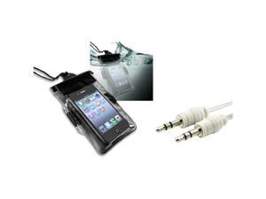 Black Waterproof Bag Case Skin+Audio Cable For iPhone® 4 4S