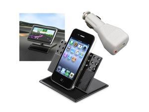 Car Dashboard Holder+White Charger Accessory For Apple® iPhone® 4 4G Hd 4S 3GS