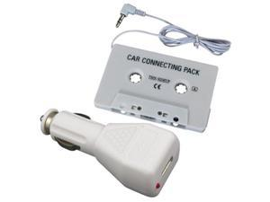 Car Tape Cassette Adapter+Charger For iPod®iPhone®Touch