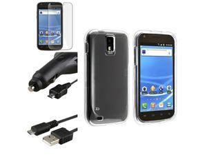 Clear Protector Case+Car Charger+USB+LCD compatible with T-Mobile Samsung© Galaxy S II T989
